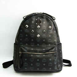 MCM Visetos MMK2AVE01 Men's Leather Backpack Black BF536045