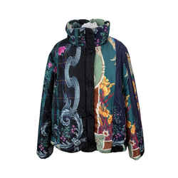 Salvatore Ferragamo Multi Print Puffer Padded Jacket Size 44 IT