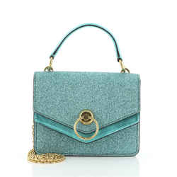 Harlow Satchel Glitter Leather Small