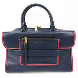 Marc Jacobs Madison East West M0008142 Women's Leather Handbag Navy,Pur BF525693
