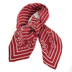 "Givenchy: Burgundy, Stripes & Logo 100% Silk, Scarf/foulard 29"" X 29"" (mp)"