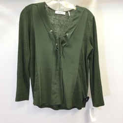 Women's Sandro Lace Up Detail Top. Size S