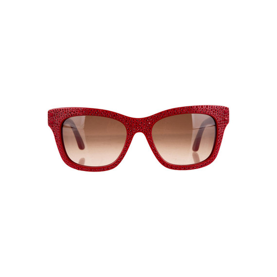 Valentino Pave Crystal Sunglasses