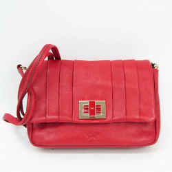 Anya Hindmarch MINI GRACIE VELVET Women's Leather Shoulder Bag Red Colo BF524636