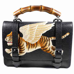 New $2800 Gucci Runway Mens Flying Tiger Leather 2-way Messenger Belt Bag Unisex