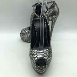 Giuseppe Zanotti Grey Peep Toe Heel 8