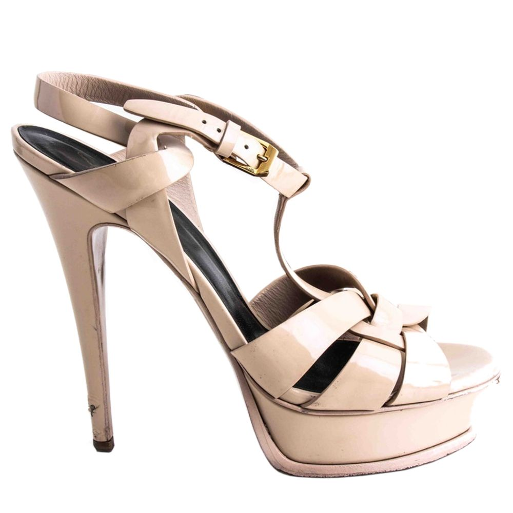 Ysl Tribute Sandal In Patent Leather
