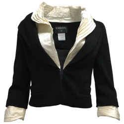 Chanel Black 2007 Cropped Wool Jacket