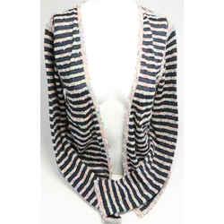 Chanel Striped Knit Tweed Sweater
