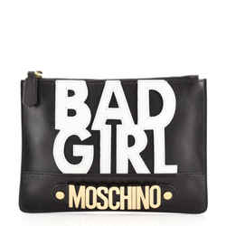 Bad Girl Zip Clutch Leather Small