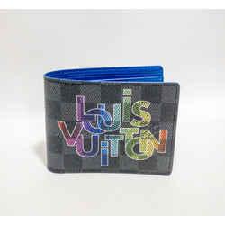 Louis Vuitton By Virgil Abloh Ltd Edition Wallet Graphite Damier Blue Logo 2020