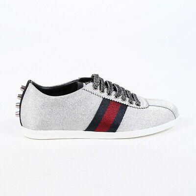 Gucci Sneakers Bambi Silver Glitter Web