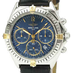 Polished BREITLING Chrono Sextant Steel Quartz Mens Watch B55047 BF523515