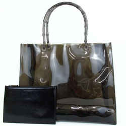 Gucci Clear Black Bamboo Tote with Pouch Translucent Black 860484