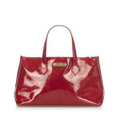 Red Louis Vuitton Vernis Wilshire PM Bag