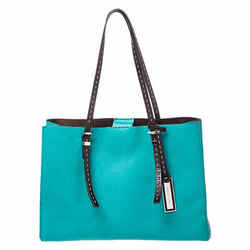Michael Kors Green Leather Ultra Stitch Handle Tote