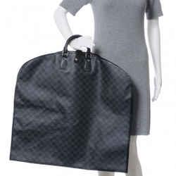 Louis Vuitton Damier Graphite Housse Porte Habits Garment Bag 2 Hanger Cover 626lvs3