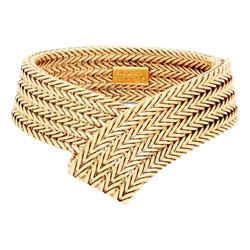 Balenciaga Gold-tone Chain Mesh Cuff Bracelet 578254
