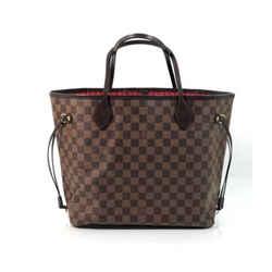 Louis Vuitton Damier Ebene Neverfull MM Tote Shoulder Handbag