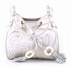 Mont Blanc Satirsma Dalila Shoulder Bag White Size 9.5 Authenticity Guaranteed