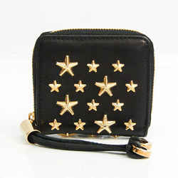 Jimmy Choo Women's Leather Studded Coin Purse/coin Case Black BF531609
