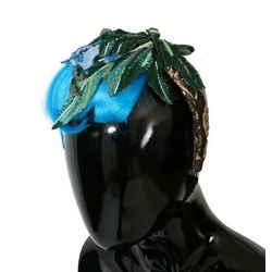 Dolce & Gabbana Blue Hair Sicily Floral Women's Headband