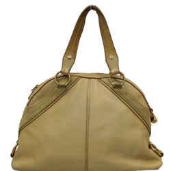 Yves Saint Laurent Muse Leather Dome Satchel Bag Tan