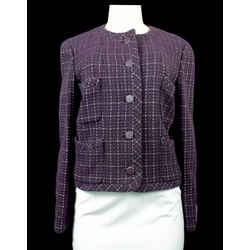 CHANEL 2002 Tweed Pattern Evening Jacket