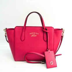 Gucci Gucci Swing 368827 Women's Leather Handbag,Shoulder Bag Pink BF535450