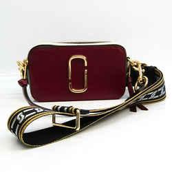 Marc Jacobs Snapshot M0012007 Women's Leather Shoulder Bag Dark Red,Gra BF533097