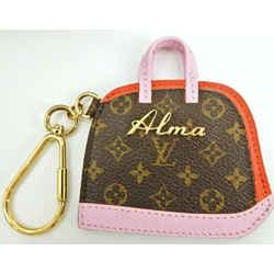 Auth Louis Vuitton Monogram Canvas Porte Cles Alma Bb Key Ring Bag Charm M66181