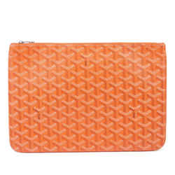 Vintage Authentic Goyard Orange Coated Canvas Fabric Goyardine Senat MM France