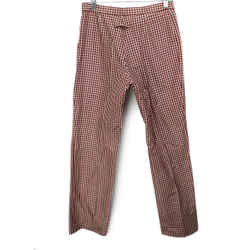 Jean Paul Gaultier Red White Gingham Print Silk Pants Size 4