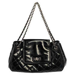 Chanel Black Quilted Patent Leather Reissue Accordion Flap Bag