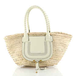 Marcie Basket Bag Raffia East West