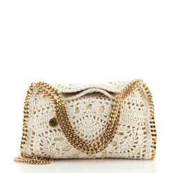 Falabella Fold Over Crossbody Bag Crochet Mini