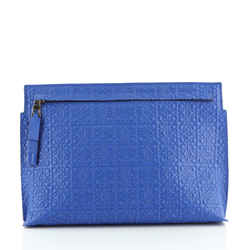 T Pouch Anagram Embossed Leather