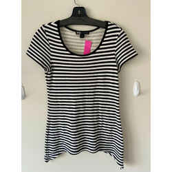 Y-3 Adidas Black And White Striped Tee T-shirt Sz Small S/p