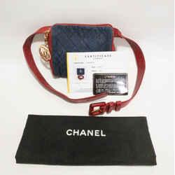 Rare Vintage Denim Leather Waist Belt Bag Entrupy 1989