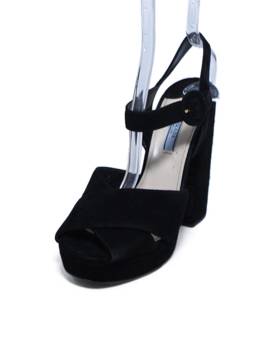 prada suede and raffia platform sandals