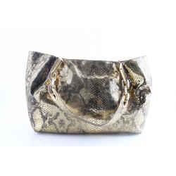 Michael Kors Metallic Gold Snakeskin Shoulder Bag