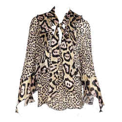 Multicolor Givenchy Cheetah Silk Blouse