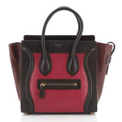 Tricolor Luggage Bag Leather Micro