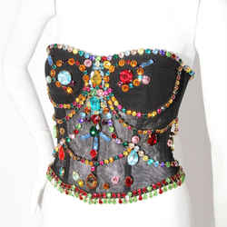 Dolce And Gabbana Bejeweled Corset