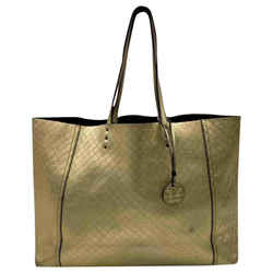 Bottega Veneta Gold Intrecciato Leather Shopper Tote 860253