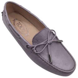Tod's Light Purple Leather Moccasin Flats
