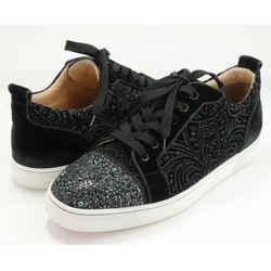 Christian Louboutin Louis Junior Crystal Sneakers