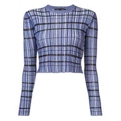 Proenza Schouler Rib Knit Blue / White Stripe Sweater