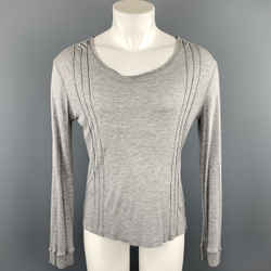 Versace Jeans Couture Size M Gray Modal Scoop Neck Pullover