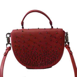 Christian Louboutin Half-moon Studded Top Handle Satchel Bag